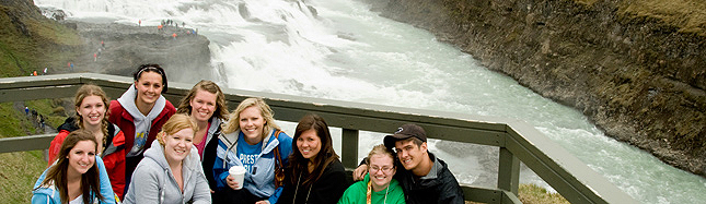 Gullfoss Waterfall Golden Waterfall Grand Forks High School USA