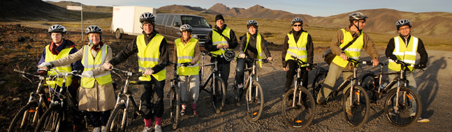 Golden circle Bike and mini-bus tour