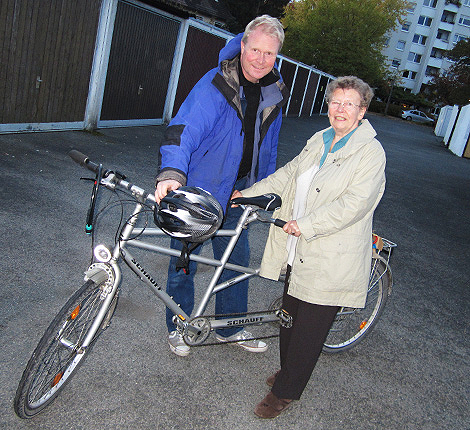 Tandem bike for rent in Reykjavik