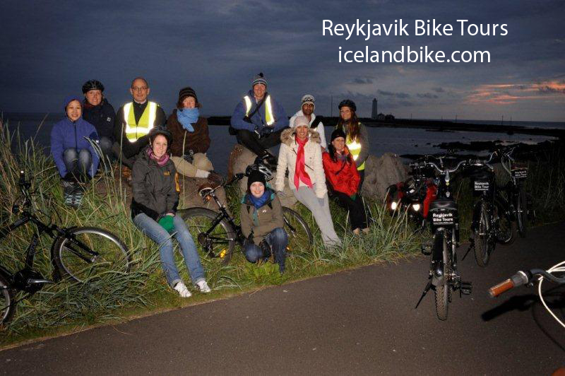 Bicycle tour at midnight